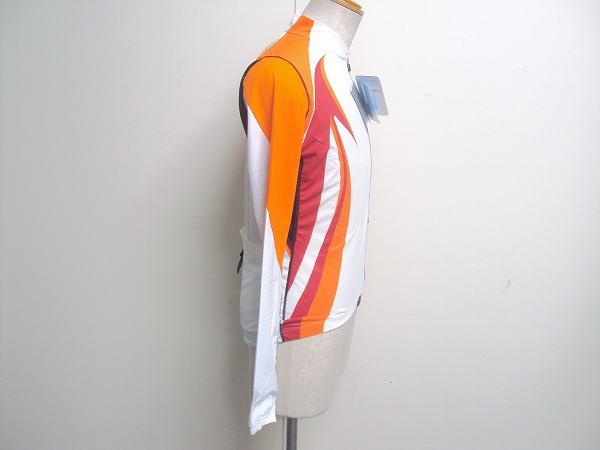 レディースロングスリーブジャージ Accu3D Lサイズ オレンジ/ホワイト