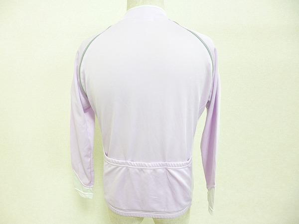 フルジップジャージ レディース 半袖/長袖切り替え サイズ:L パープル