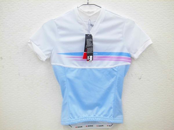 サイクルTシャツ レディースSサイズ ホワイト/ライトブルー