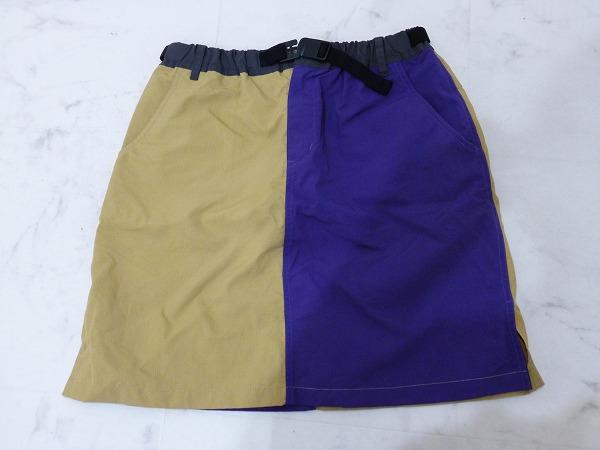 スカート Lサイズ(ウェスト 65~69cm) パープル/ブラウン