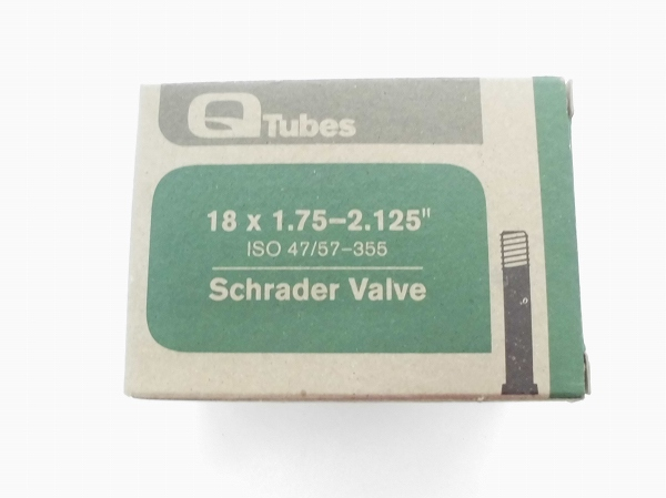 チューブ 18インチ 18×1.75-2.125 米式 ブラック