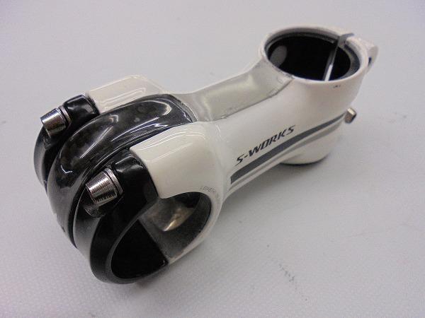 アヘッドステム S-WORKS 75mm φ31.8 OS アルミ ホワイト/ブラック