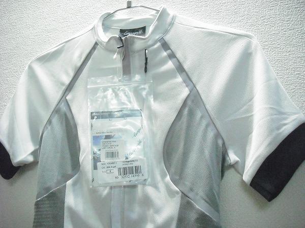 半袖ジャージ レディース ホワイト/グレー Sサイズ