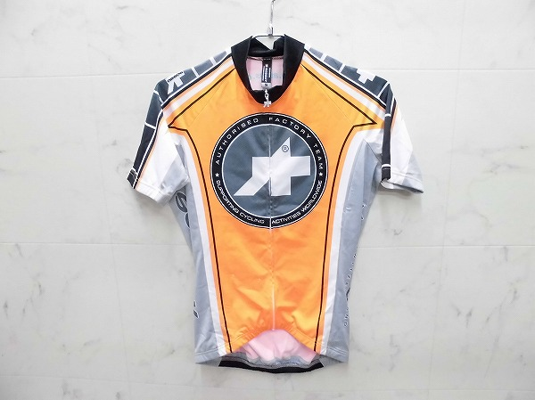 半袖フルジップジャージ サイズ:S オレンジ