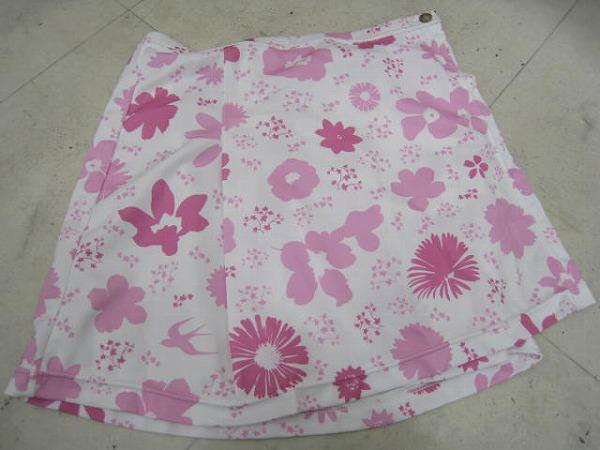 サイクルスカート ピンク/ホワイト Lサイズ