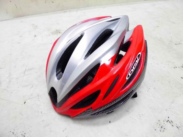 ヘルメット REGAS サイズ:M/L レッド/シルバー/ブラック