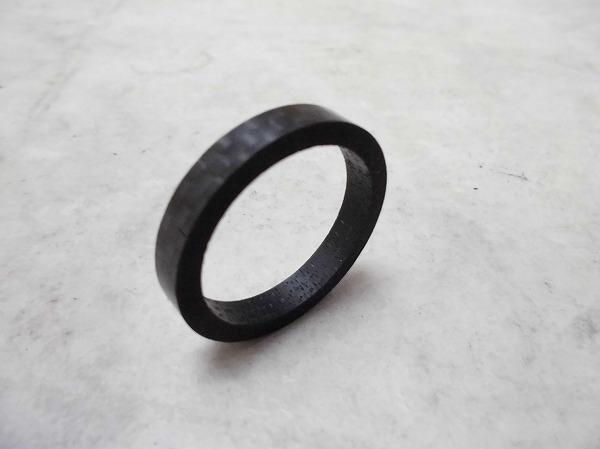 カーボンコラムスペーサー 5mm/1インチ ブラック