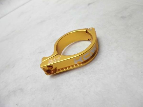 フロントディレイラーブラケット 34.9mm ゴールド