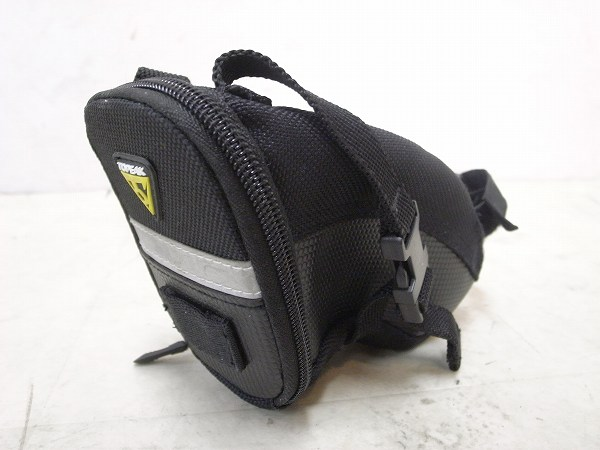 サドルバッグ エアロウェッジパック ストラップマウント S ブラック