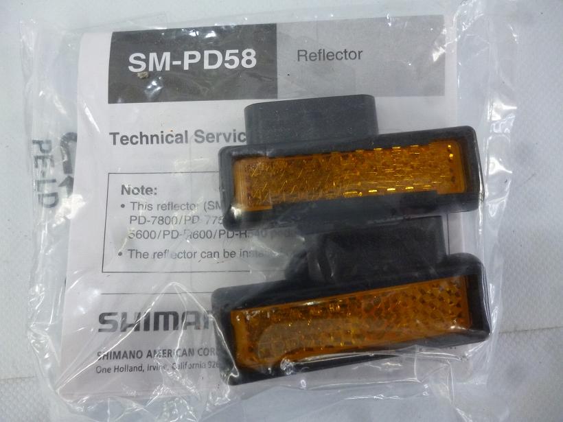 SPD-SLペダル用リフレクター SM-PD58