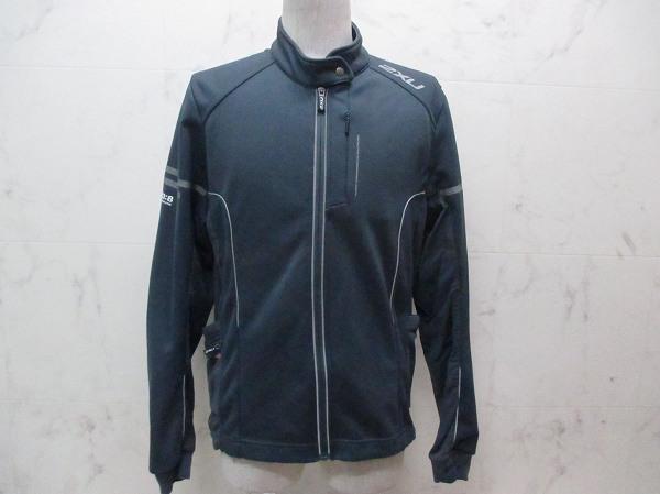 長袖フルジップジャケット グレー サイズ:XL