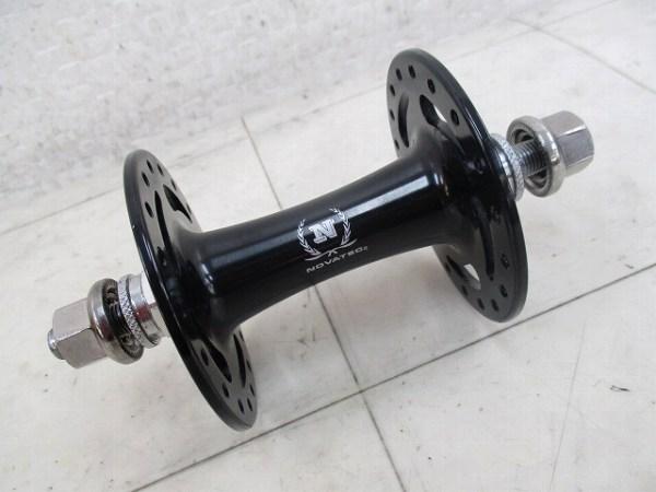 ピスト用ラージフランジフロントハブ 100mm 9mmシャフト ブラック
