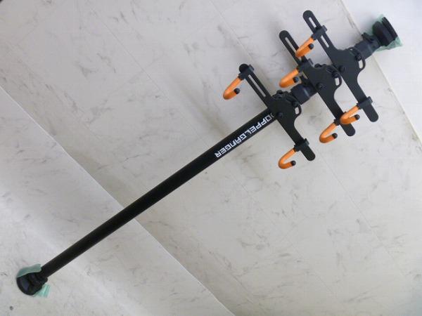 トリプルタワースタンド H1650xW430xD200mm 1650-3400 mm