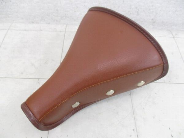 サドル ドッペルギャンガーロゴ スプリング式 ブラウン