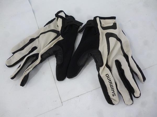 フルフィンガーグローブ ホワイト/ブラック  サイズ:XL