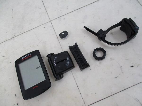 サイクルコンピュータ PARONE CC-PA100W ブラック ※動作確認済み