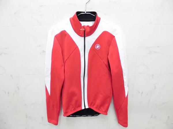 長袖フルジップジャケット サイズ:L レッド(メインカラー)