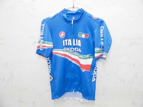 半袖フルジップジャージ ITALIA SKODAロゴ サイズ:L ブルー