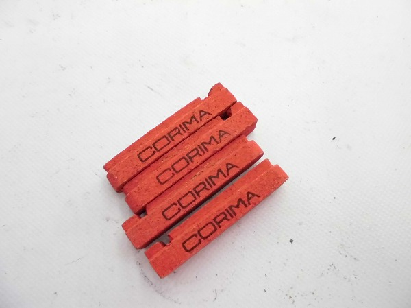 カーボンリム用ブレーキシュー 4ケセット レッド