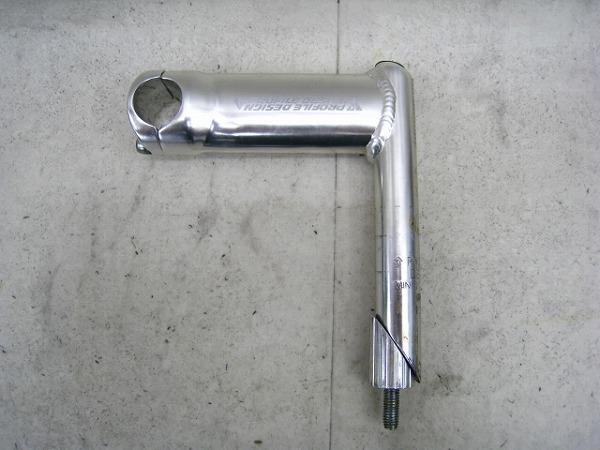スレッドステム 120/26.0/22.2mm アルミ シルバー