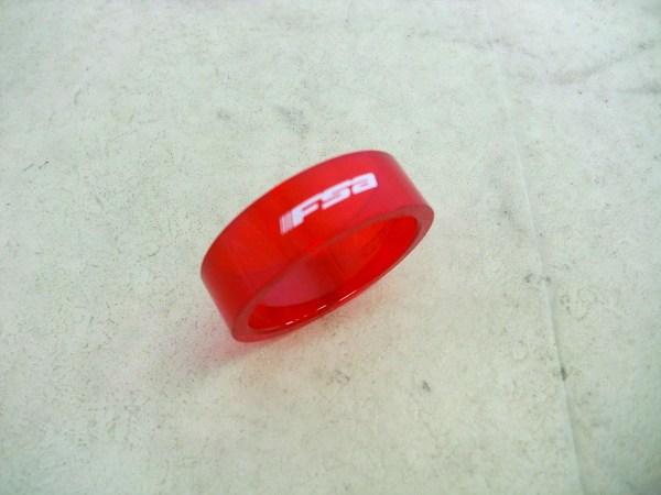 コラムスペーサー OS(28.6mm)/10mm クリアレッド