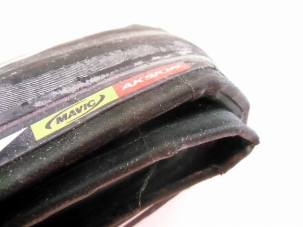 クリンチャータイヤ AKSION 700x25c ホワイト/ブラック