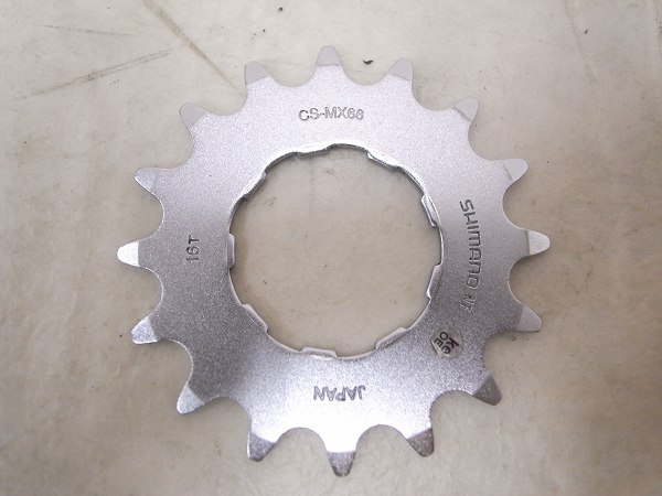 シングルスプロケット CS-MX66 16T 薄歯