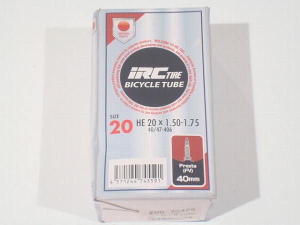 チューブ HE 20X1.50-1.75 仏式(40mm)