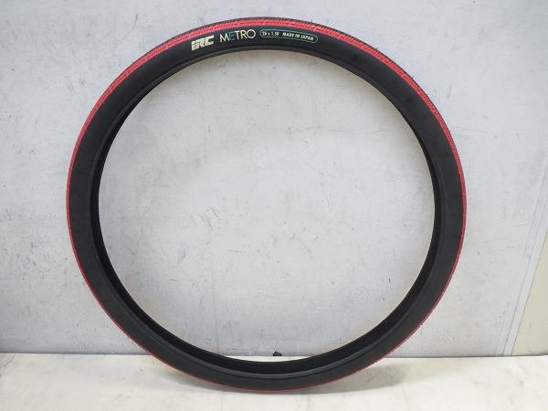 クリンチャータイヤ METRO 26x1.50 ブラック/レッド