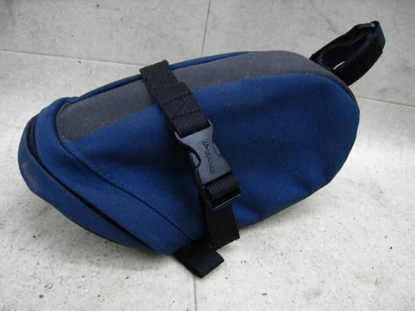 サドルバッグ ブルー/グレー Lサイズ
