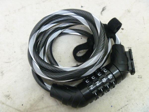ワイヤーロック 4桁ナンバー ブラック