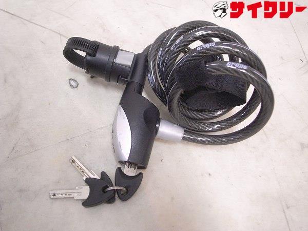 ワイヤーロック VIPPER-G 10m 鍵式 ブラック ※バンドカット有