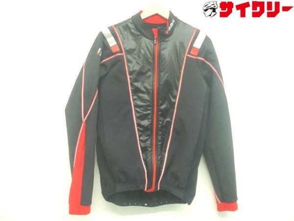 ウィンタージャケット 裏起毛 XLサイズ ブラック/レッド
