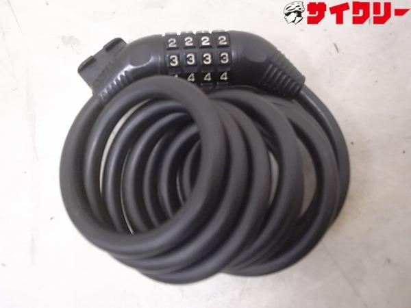 ワイヤーロック ナンバー式 1800mm ブラック
