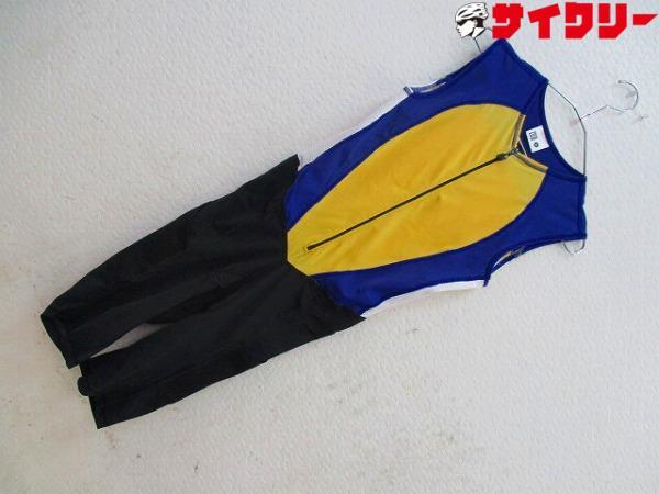 トライアスロンウェア Mサイズ ブルー/イエロー/ブラック