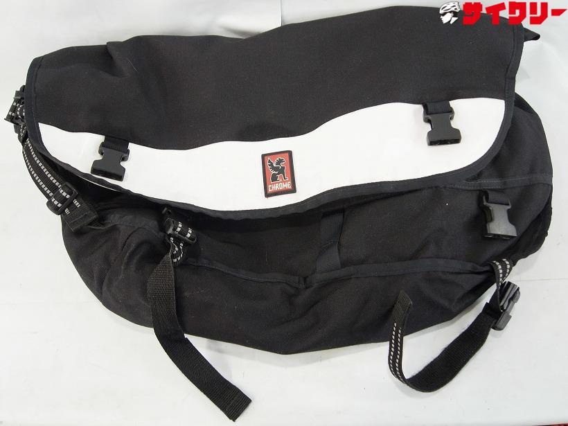 メッセンジャーバッグ ブラック/ホワイト