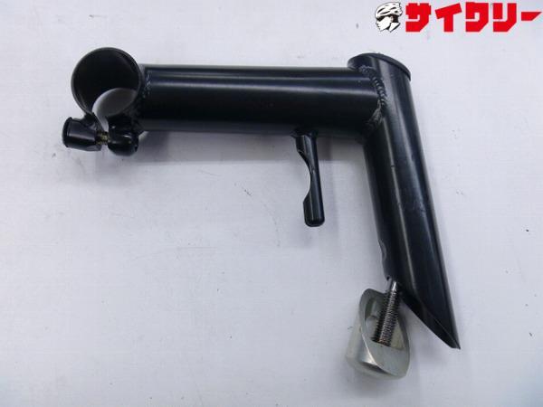 スレッドステム 120/25.4/25.4mm クロモリ ブラック