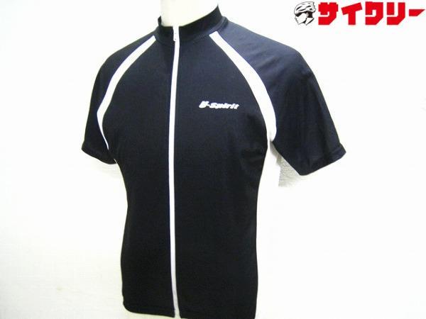 半袖ジャージ U-SPIRITロゴ Lサイズ ブラック/ホワイト