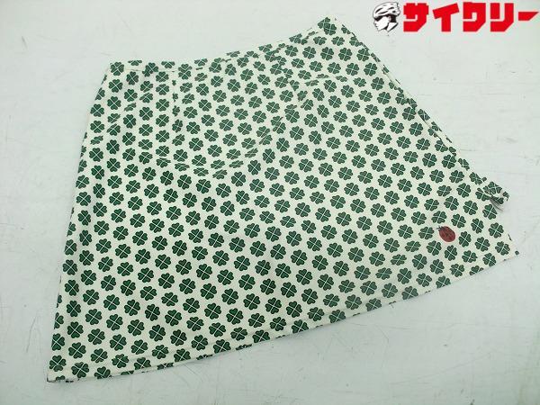 サイクルスカート ホワイト/グリーン Lサイズ