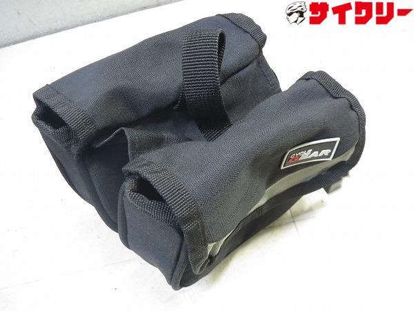 ミニパニアバッグ トップチューブ用 140x110x40mm ブラック