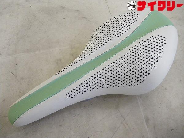 サドル スチールレール ホワイト/グリーン