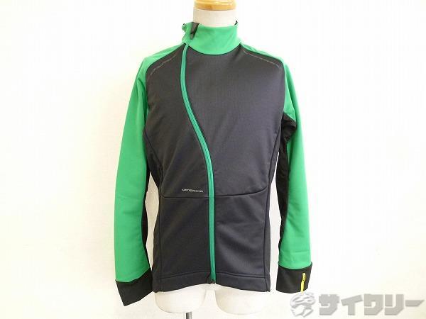 COSMIC PRO WIND JACKET ブラック/グリーン Mサイズ