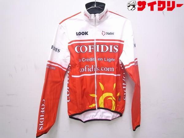 長袖ジャケット COFIDIS 4サイズ レッド/ホワイト