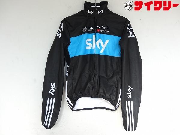 長袖フルジップ team sky Mサイズ(Japan) ブラック/ブルー