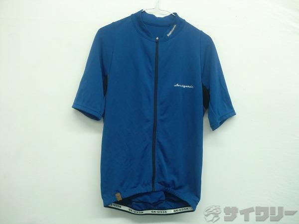 半袖フルジップジャージ ACCU-3D ブルー Lサイズ