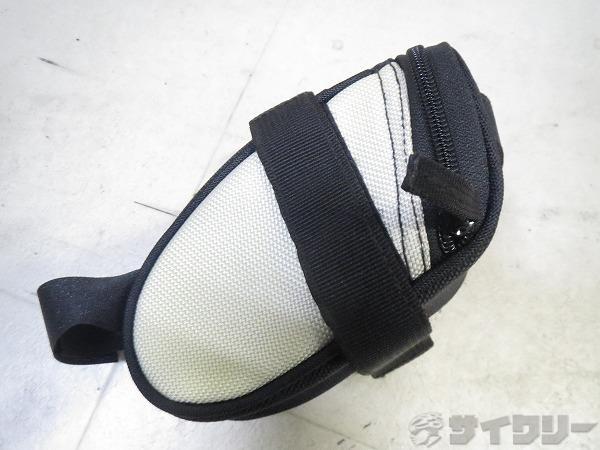 サドルバッグ 150x80x75mm ブラック/ホワイト