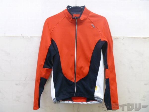 長袖フルジップジャケット サイズ:L レッド