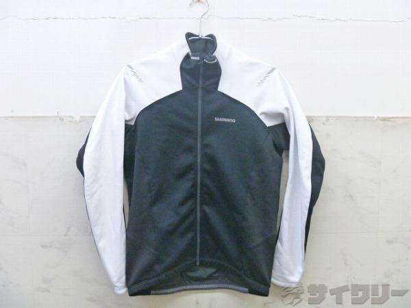 長袖ジャケット サイズ:L ブラック/ホワイト