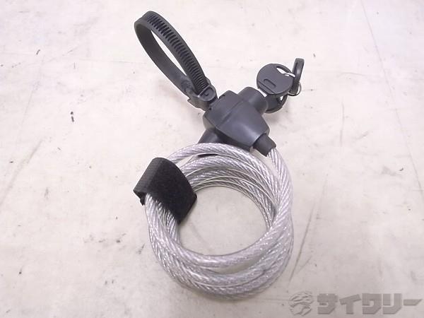 ワイヤーロック SK110 1800mm 鍵式 クリア