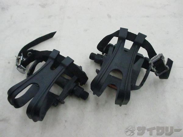 トゥクリップペダル ブラック サイズ:S